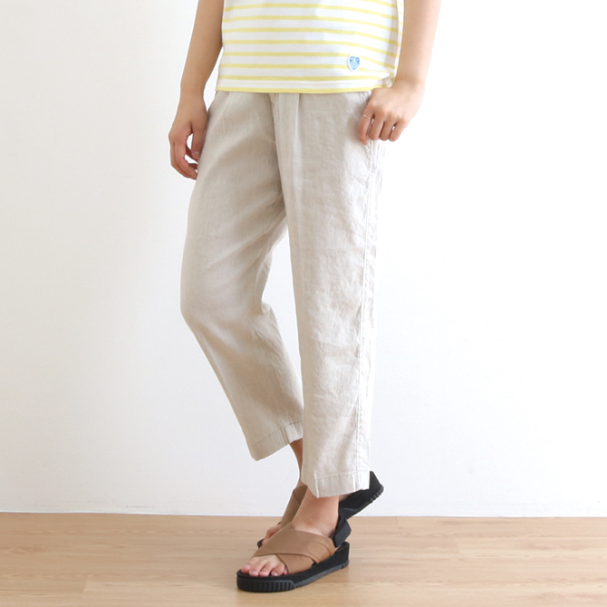 ANTGAUGE(アントゲージ) French Linen Stretch Loose Tapered Trousers フレンチリネン ストレッチ ルーズ テーパードトラウザー C1702 レディース