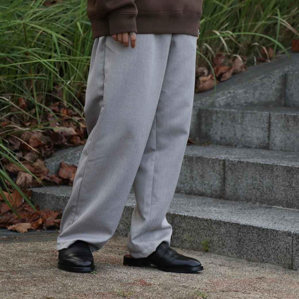 azuki アズキ herringbone relax pants