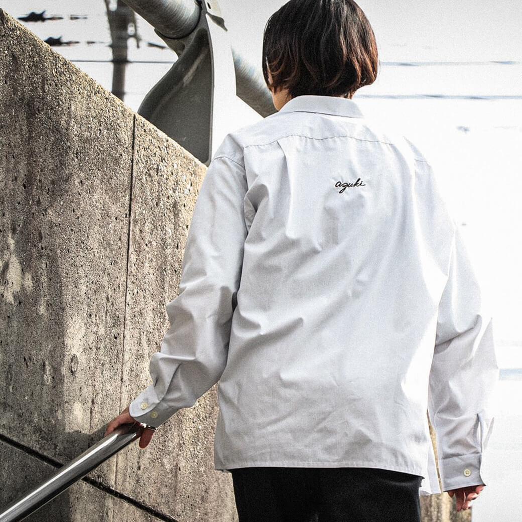 azuki アズキ センターバックLOGO刺繍シャツ