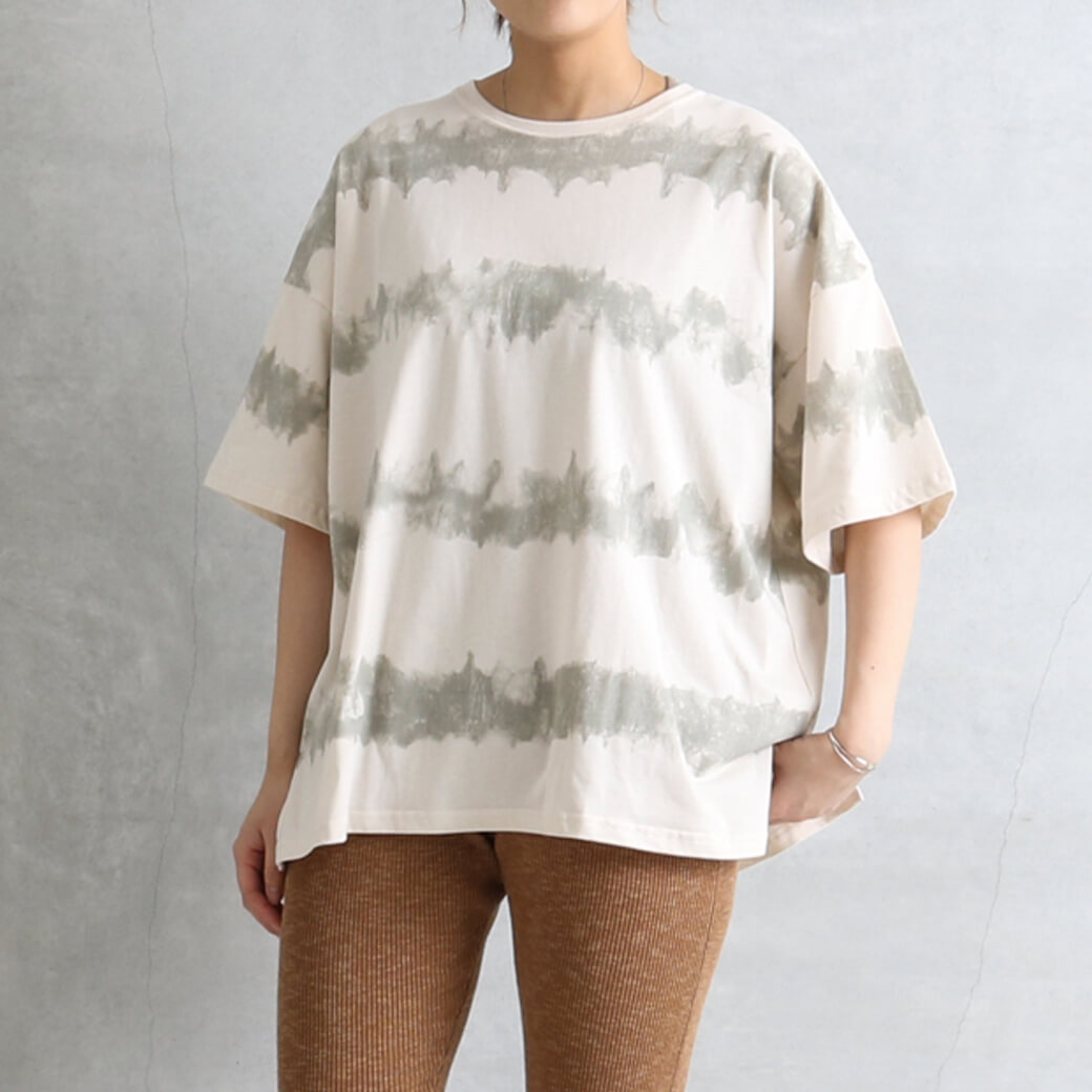 BORN FREE Originals ボーンフリーオリジナル タイダイ風プリントTシャツ