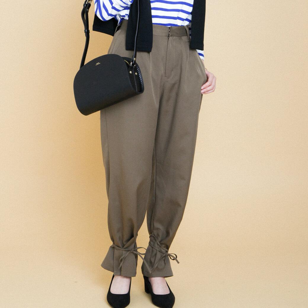 【今だけ10%OFF】BORNFREE ORIGINALS ボーンフリーオリジナル 裾リボン付き2WAYパンツ