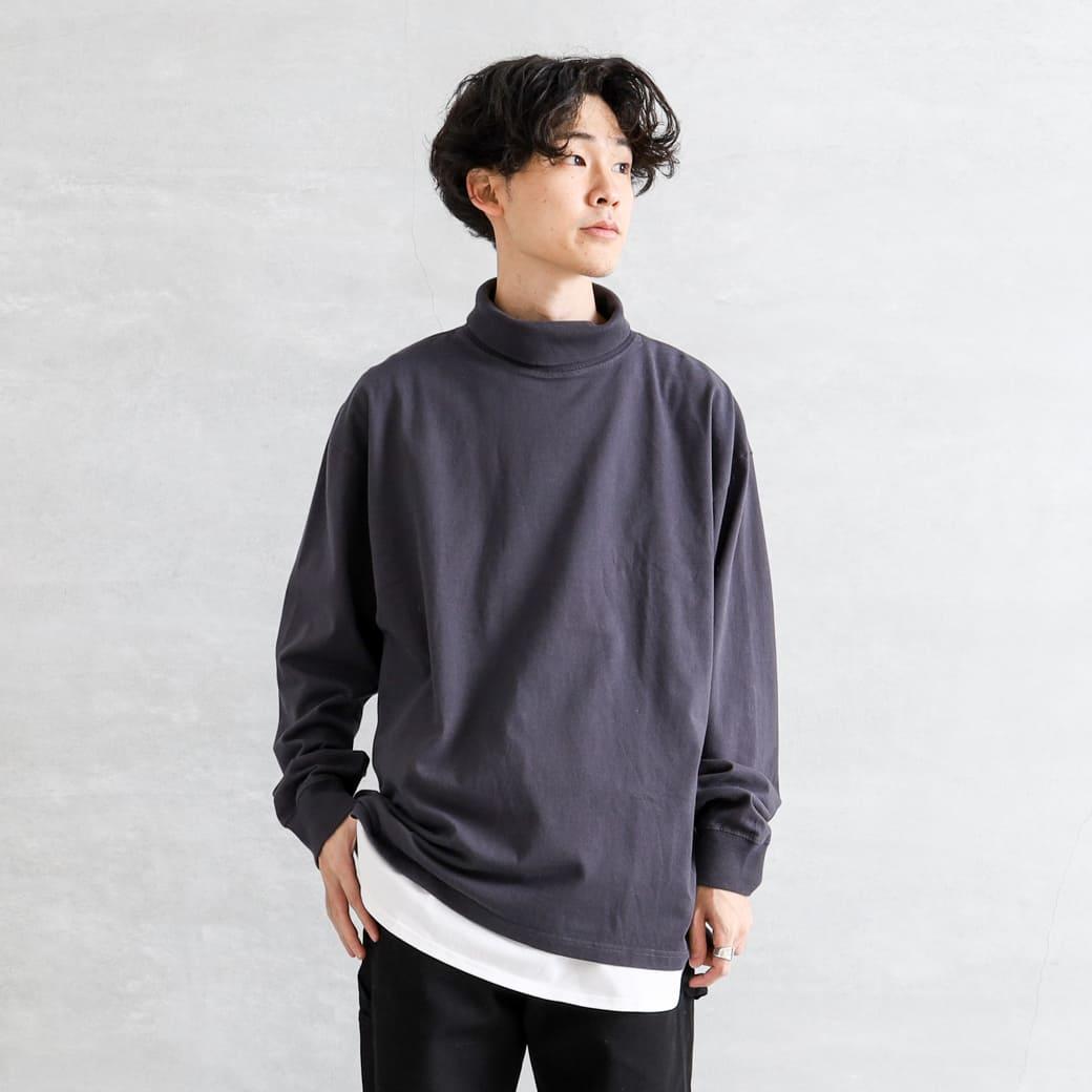 【今だけ10%OFF】BORNFREE ORIGINALS ボーンフリーオリジナル ヘビーウェイトモックネックTシャツ
