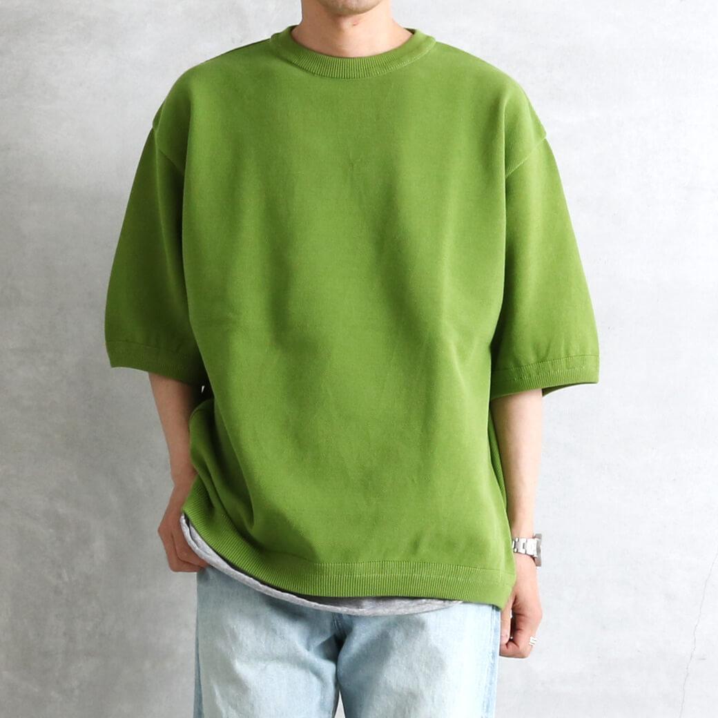 crepuscule クレプスキュール モスステッチ 鹿の子 半袖Tシャツ