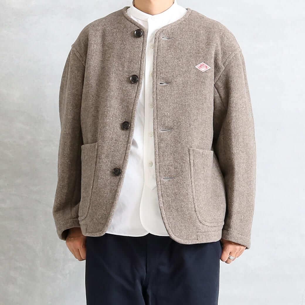 【今だけ10%OFF】DANTON ダントン ウールライトパイル カラーレスジャケット