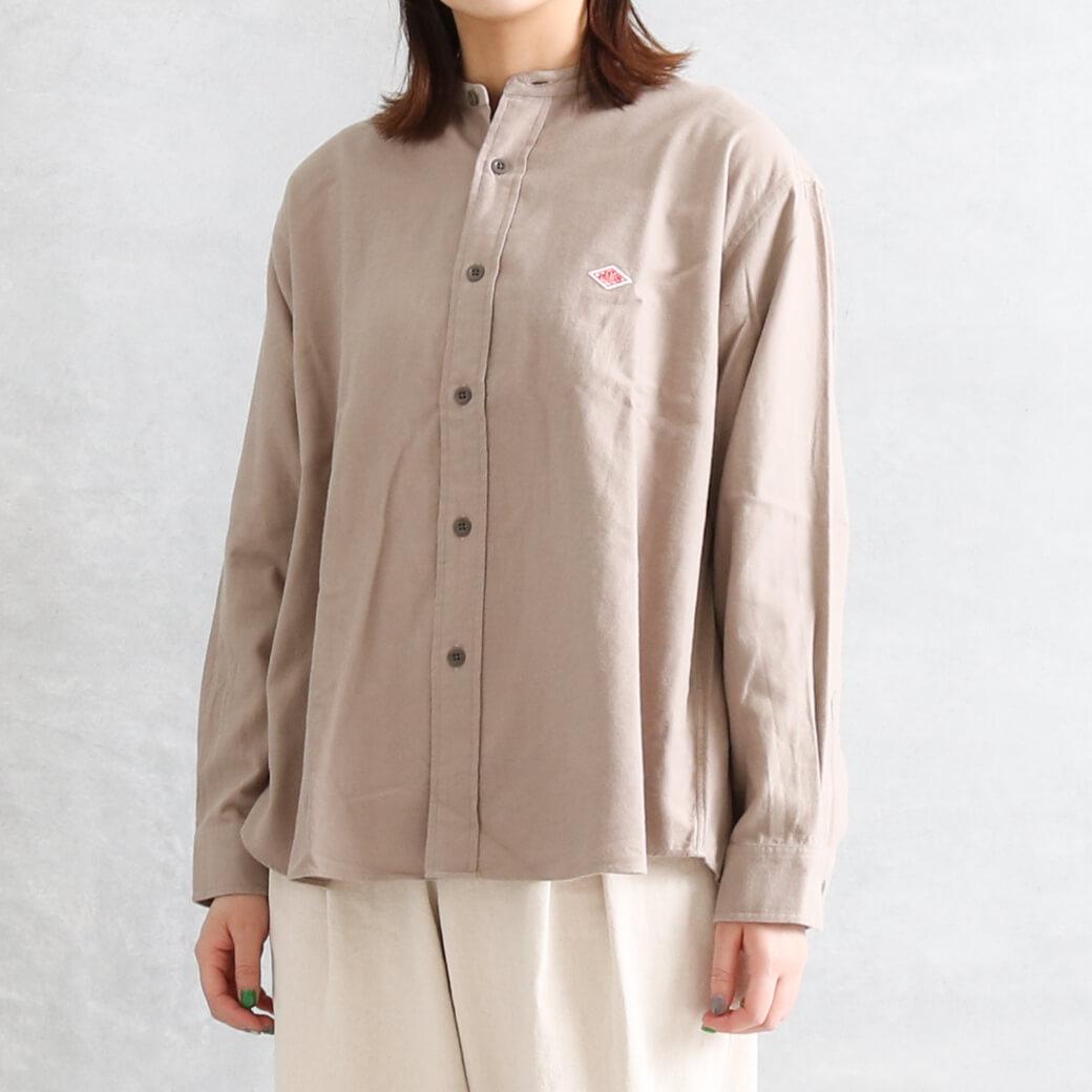 【今だけ10%OFF】DANTON ダントン モールスキン バンドカラーシャツ 長袖