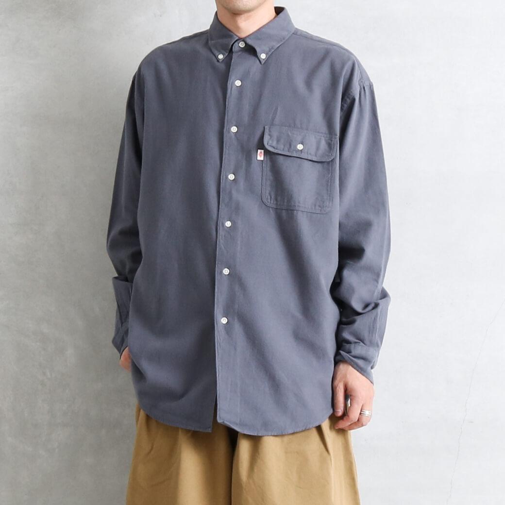 DANTON ダントン モールスキン ワークシャツ 長袖
