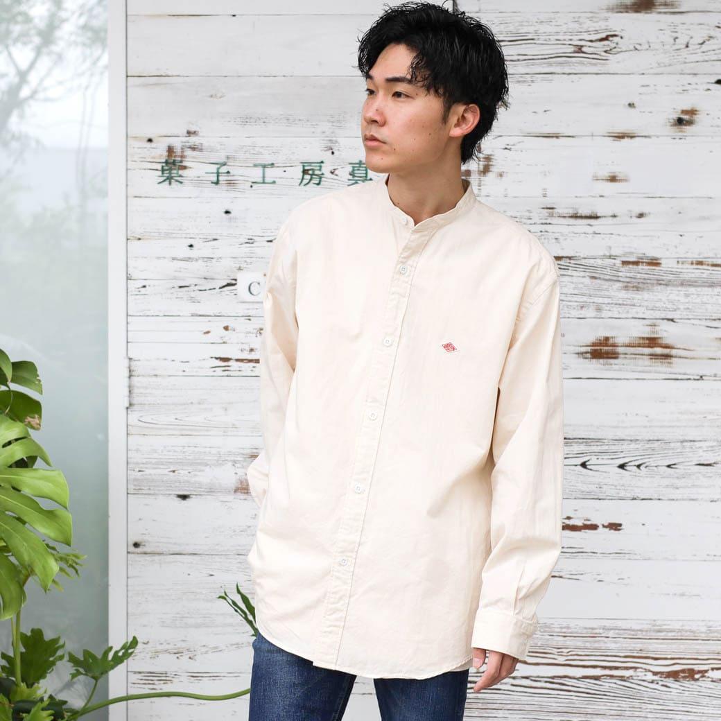 DANTON ダントン コットンツイル ワークシャツ 長袖