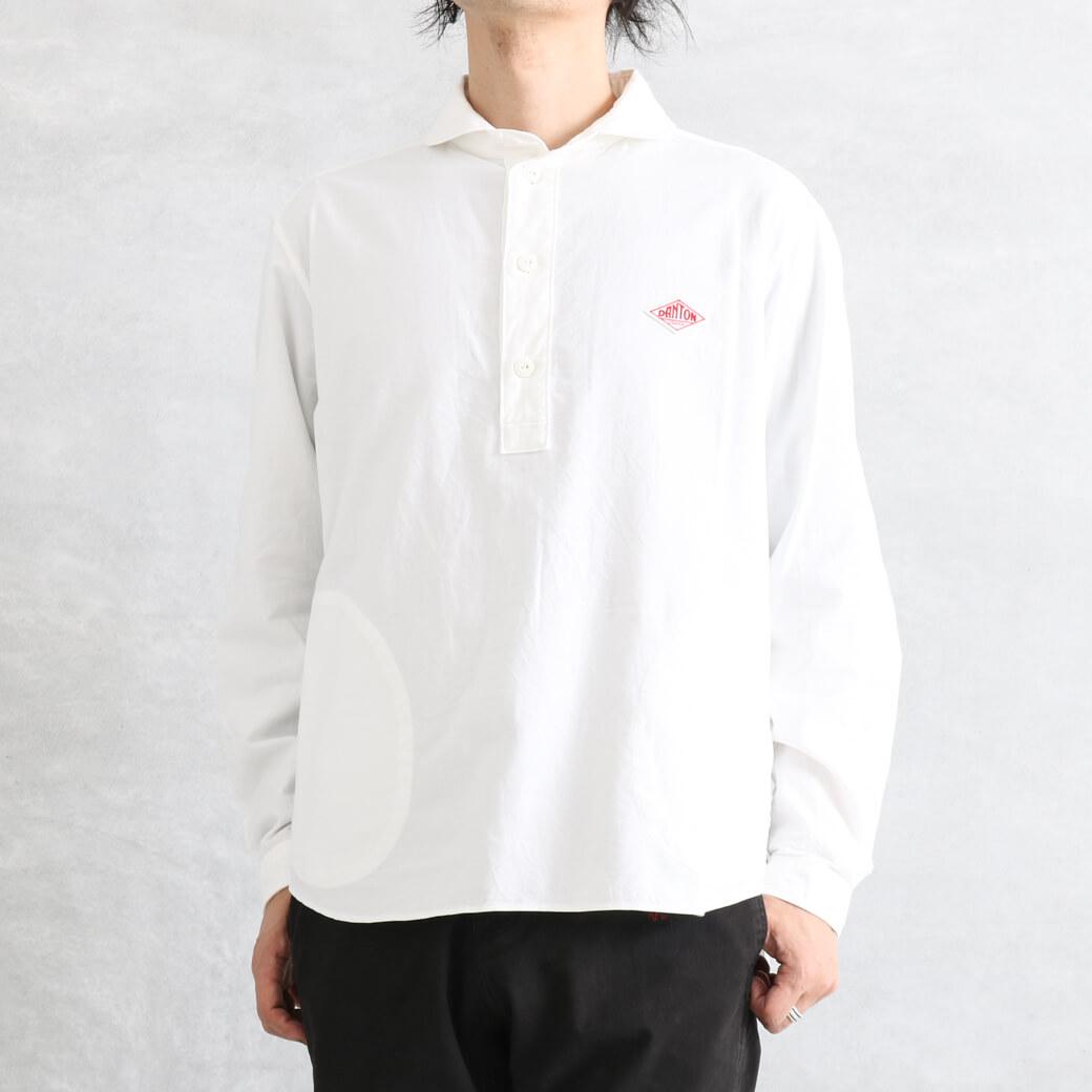 【今だけ10%OFF】DANTON ダントン コットン オックスフォード 丸襟 プルオーバーシャツ