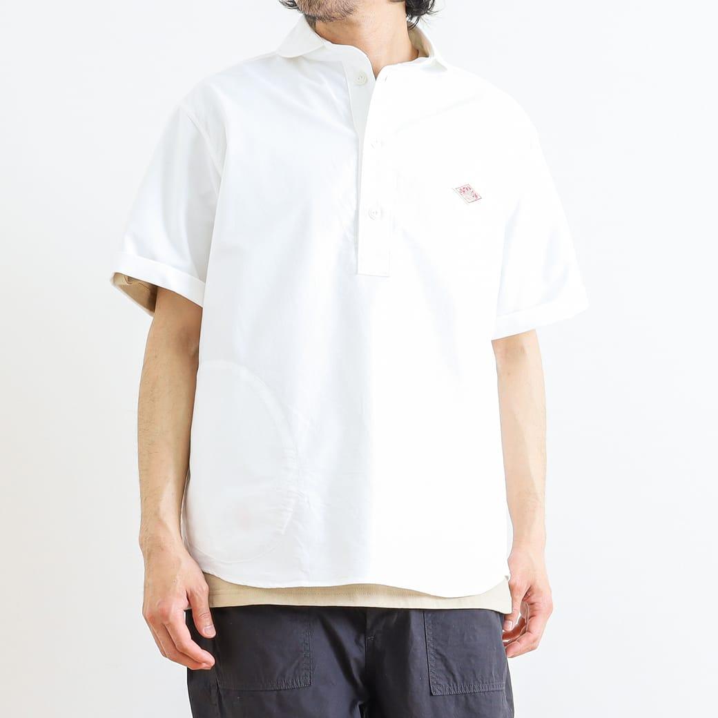 【今だけ10%OFF】DANTON ダントン 半袖ラウンドカラープルオーバーシャツ