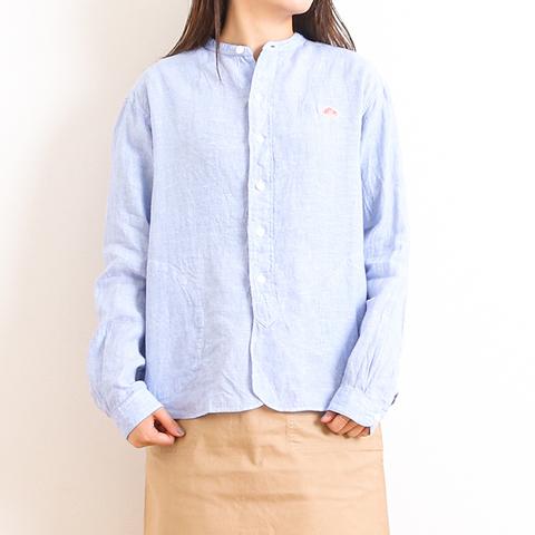 【今だけ10%OFF】DANTON ダントン LINEN CLOTH BAND COLLAR L/S SHIRT リネンクロスバンドカラーシャツ 長袖 JD-3606KLS