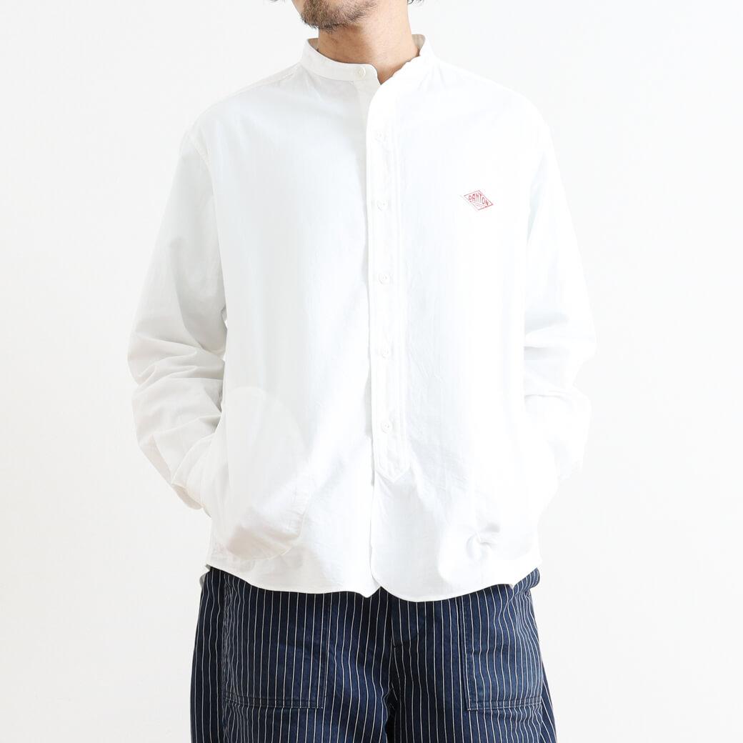 【今だけ10%OFF】DANTON ダントン バンドカラーシャツ 長袖