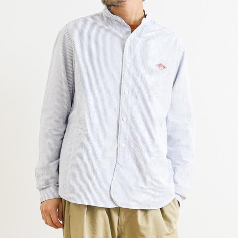 【今だけ10%OFF】DANTON ダントン オックスフォード バンドカラーシャツ 長袖
