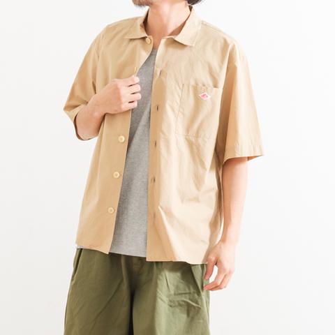DANTON ダントン コットンポプリン ワイドシャツ 半袖
