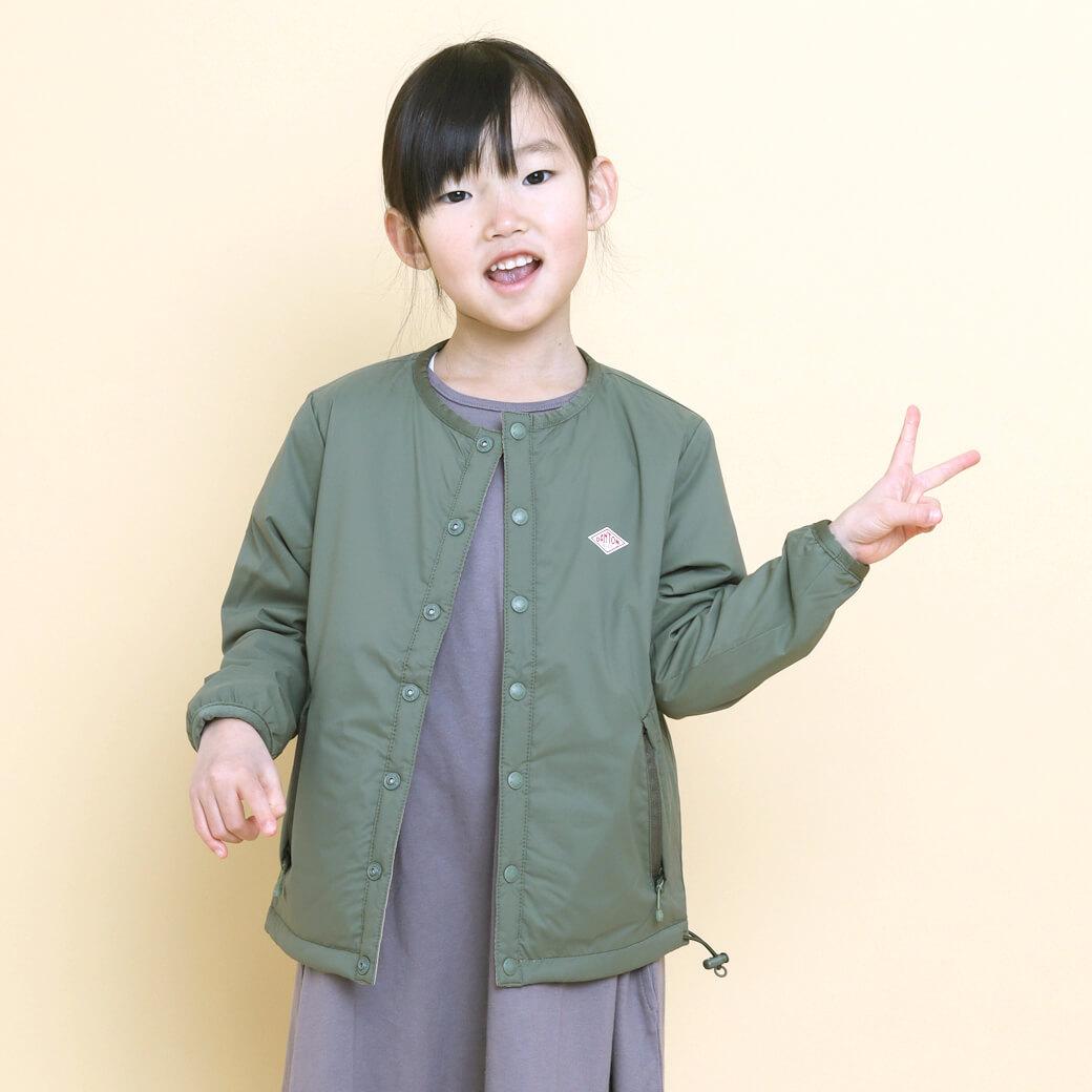 【予約商品】DANTON ダントン キッズ ノーカラー インサレーションジャケット