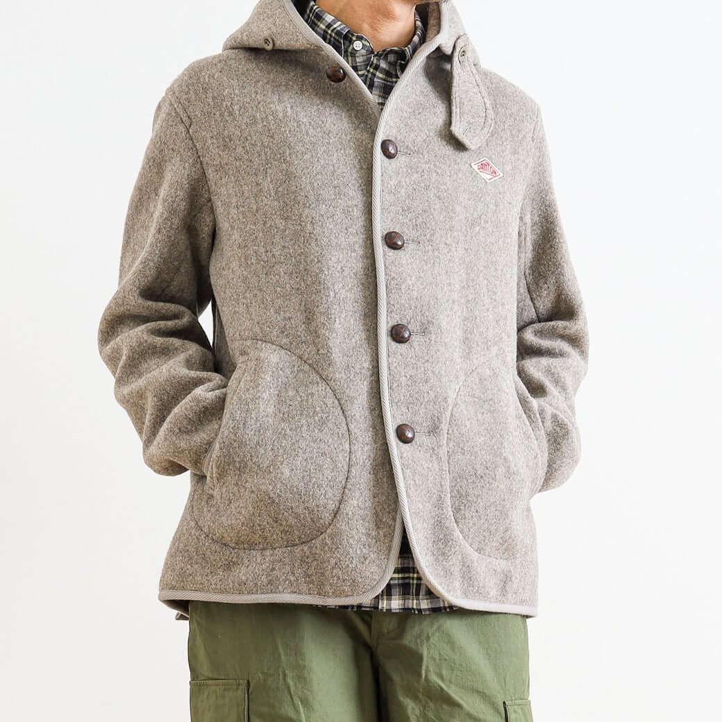 DANTON ダントン ウールモッサ フード付きシングルジャケット