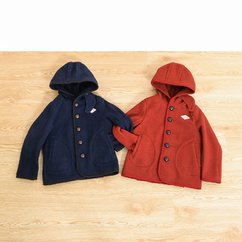 DANTON ダントン KIDS WOOL MOSSER HOOD SINGLE JACKET JD-8576WOM