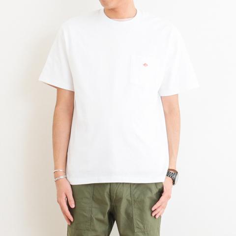 メンズ DANTON(ダントン) クルーネック ポケットTシャツ 半袖 JD-9041