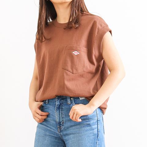 DANTON ダントン ノースリーブ ポケットTシャツ