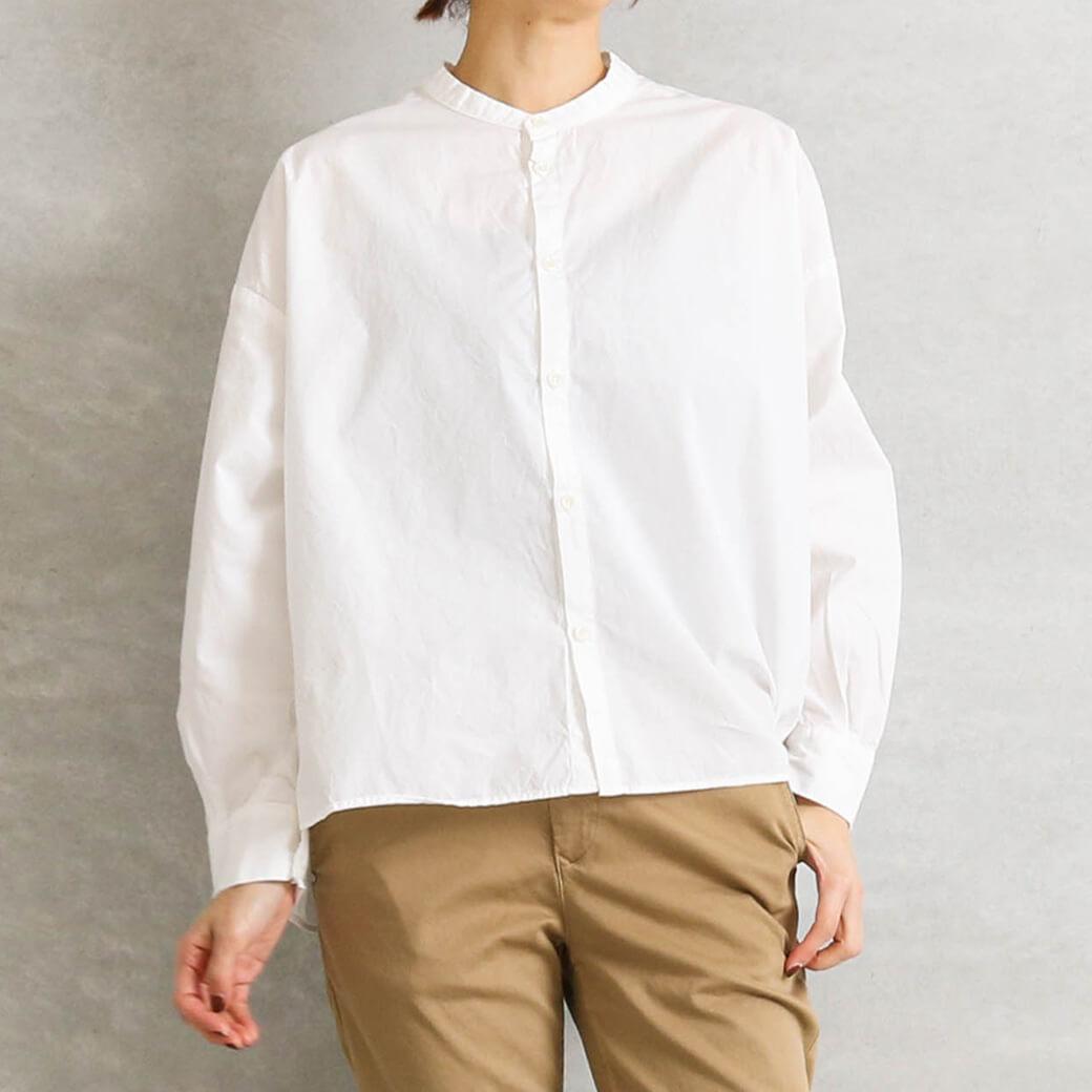 【今だけ10%OFF】D.M.G ドミンゴ ブロードスタンドワイドシャツ