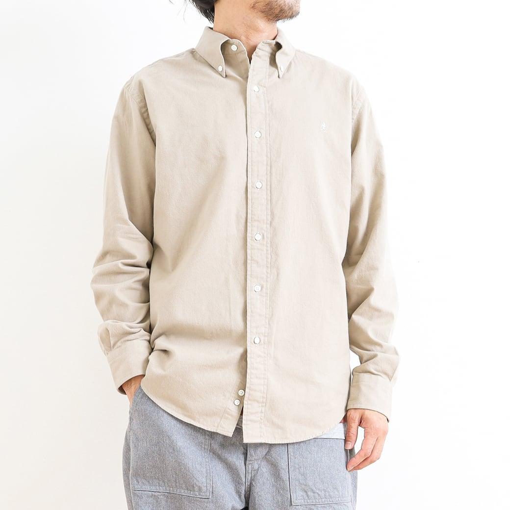 【今だけ10%OFF】GYMPHLEX ジムフレックス ビエラ起毛ボタンダウンシャツ 長袖