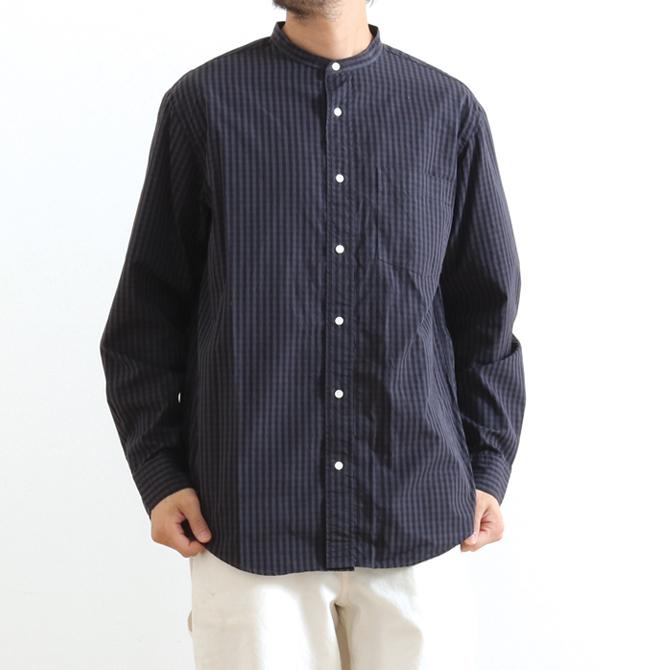 Gymphlex(ジムフレックス) Gingham Check Band Collar Shirts ギンガムチェック バンドカラーシャツ J-1306NTS メンズ