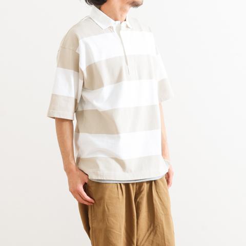 【今だけ10%OFF】Gymphlex ジムフレックス S/S RUGGER SHIRT ラグビーシャツ 半袖 J-1336