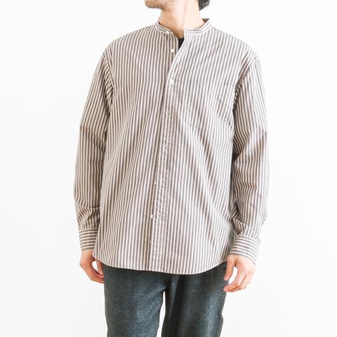 【予約商品】GYMPHLEX ジムフレックス L/S BAND COLLAR SHIRT バンドカラーシャツ 長袖 J-1352NTS