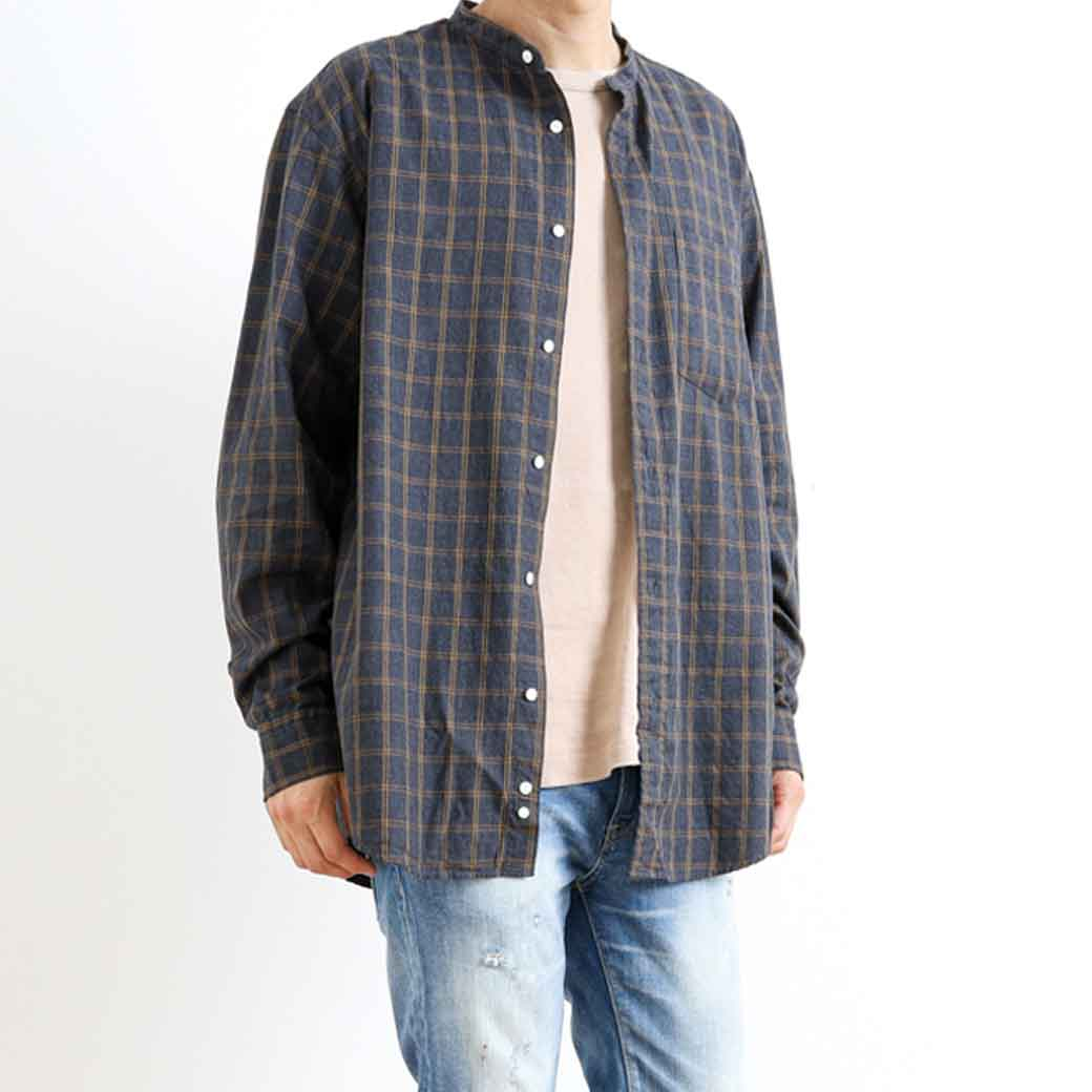 Gymphlex ジムフレックス  L/Sビエラバンドカラーシャツ