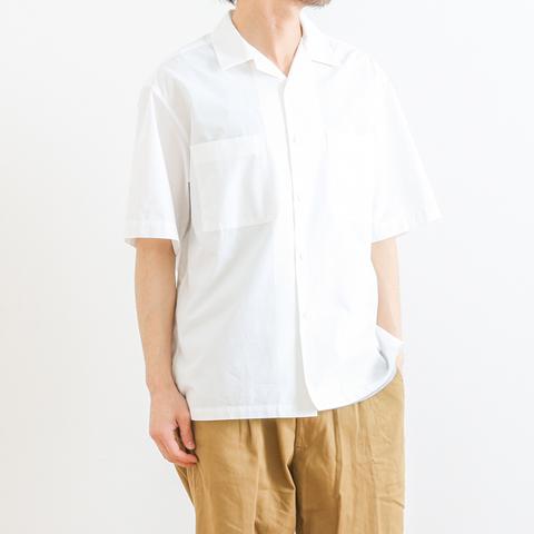 【今だけ10%OFF】GYMPHLEX ジムフレックス COTTON POPLIN S/S OPEN COLLAR SHIRT コットンポプリン オープンカラーシャツ 半袖 J-1353HGL
