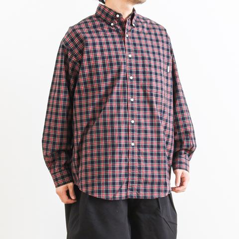 【予約商品】GYMPHLEX ジムフレックス LOOSE FIT L/S CHECK SHIRT ルーズフィット チェックシャツ 長袖 J-1389NBP