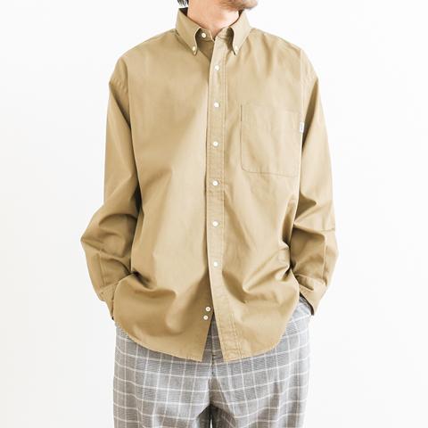 【予約商品】GYMPHLEX ジムフレックス LOOSE FIT L/S TWILL SHIRT ルーズフィット ツイルシャツ 長袖 J-1389VTW