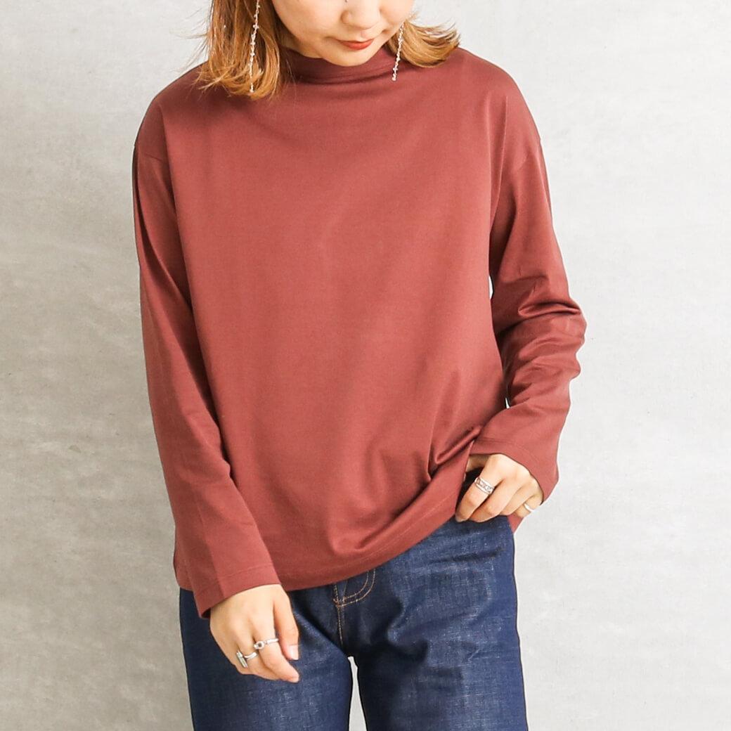 【今だけ10%OFF】handvaerk ハンドバーク ボトルネック長袖Tシャツ