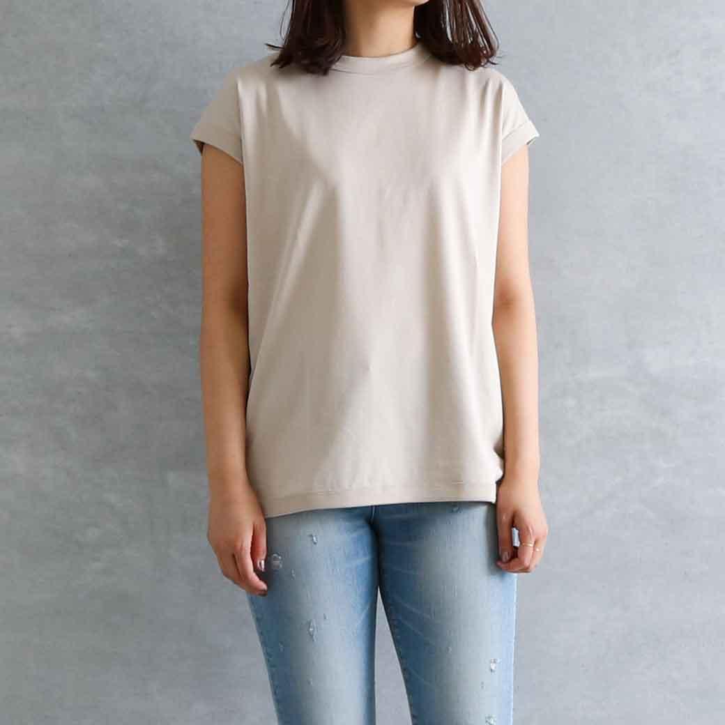 handvaerk ハンドバーク クルーネックスリーブレスTシャツ