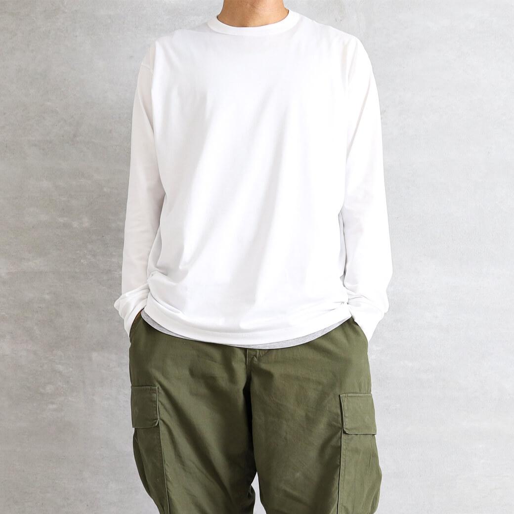 【今だけ10%OFF】handvaerk ハンドバーク クルーネックロングスリーブTシャツ