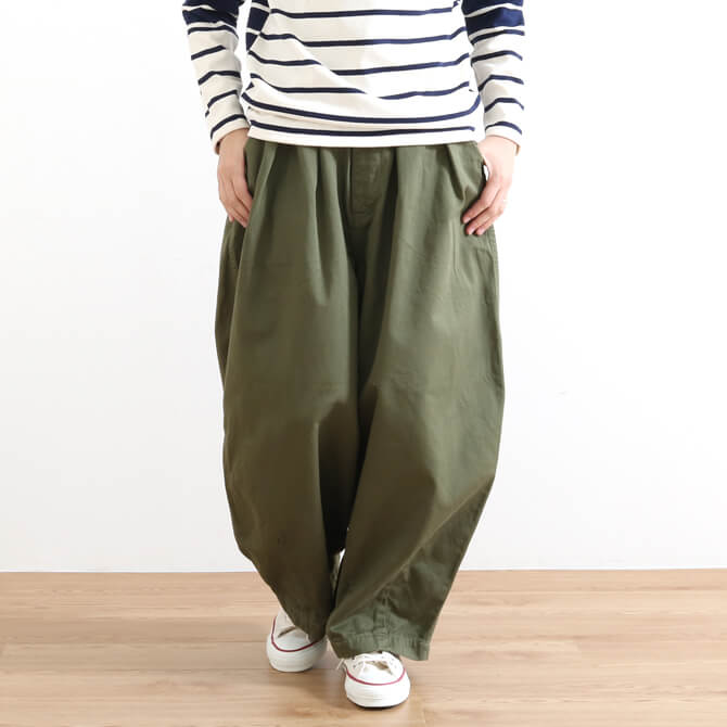 HARVESTY ハーベスティ COTTON CHINO CLOTH CIRCUS PANTS コットン チノクロス サーカスパンツ A11709 6色展開