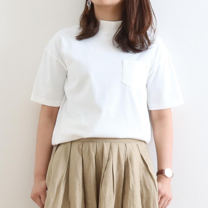 HARVESTY(ハーベスティ) MOCKNECK T-SHIRTS モックネックTシャツ A51702 レディース