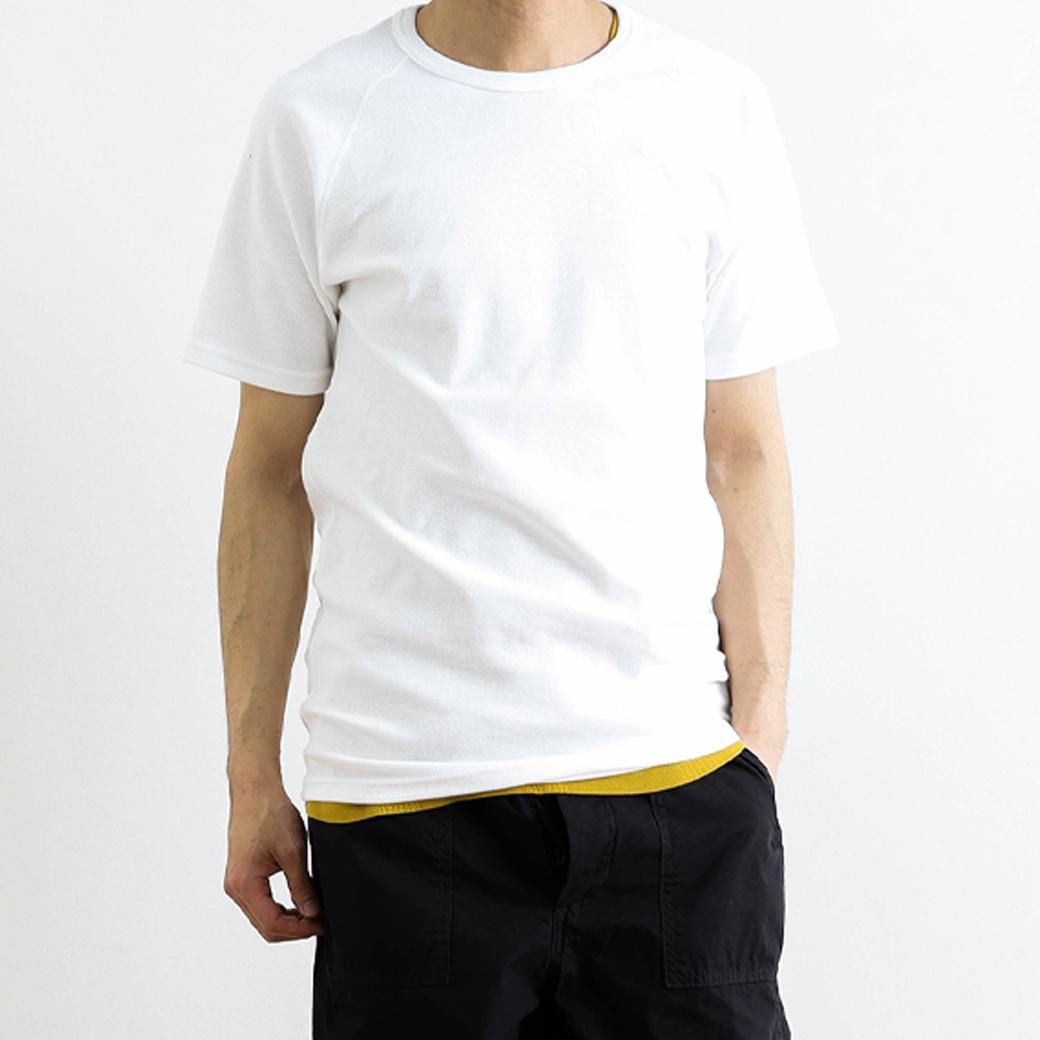 HOLLYWOOD RANCH MARKET ハリウッドランチマーケット ストレッチフライスクルーネックショートスリーブTシャツ