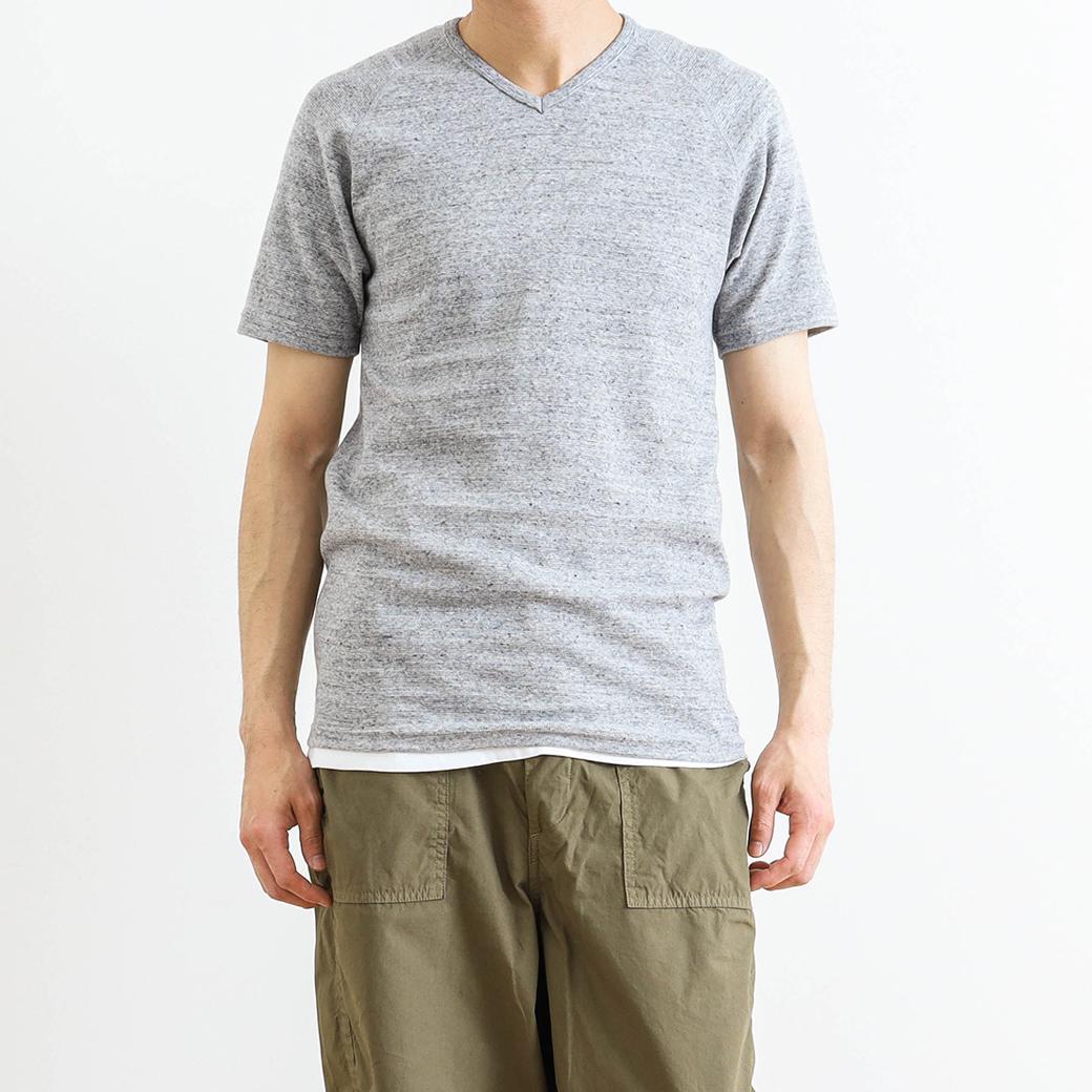 【今だけ10%OFF】HOLLYWOOD RANCH MARKET ハリウッドランチマーケット ストレッチフライスVネックショートスリーブTシャツ
