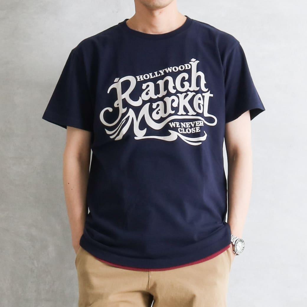 【今だけ10%OFF】HOLLYWOOD RANCH MARKET ハリウッドランチマーケット オールドスクエアロゴ Tシャツ