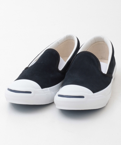 メンズ CONVERSE コンバース JACK PURCELL SLIP-ON SUEDE 1CK398JP SLON SUE BLACK