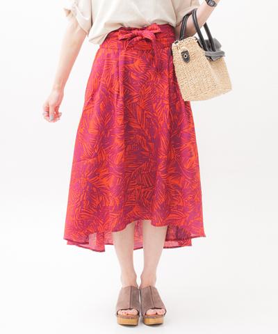 BORN FREE ORIGINAL ボーンフリーオリジナル リゾートリーフ柄スカート 27S05013158