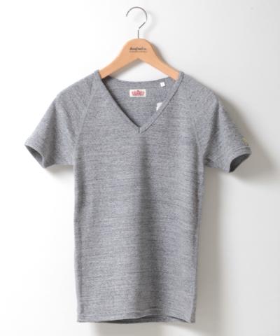 【今だけ10%OFF】メンズ HOLLYWOOD RANCH MARKET ストレッチフライス VネックTシャツ グレー