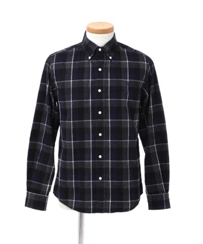 メンズ Gymphlex ジムフレックス ビエラ起毛チェックボタンダウンシャツ J-0643VHC