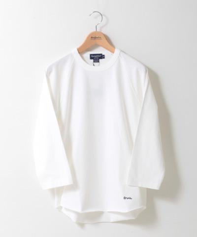 Gymphlex 七分袖 刺繍入り ラグランTシャツ J-1241 メンズ
