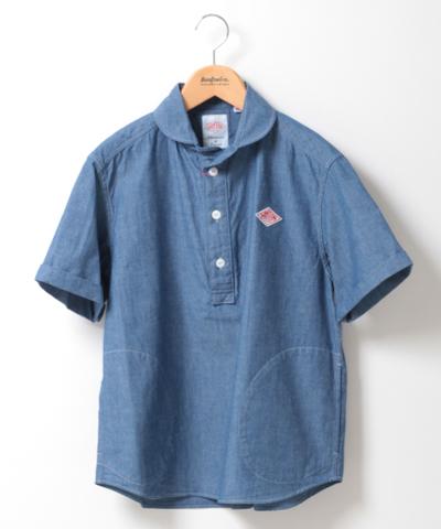 DANTON ダントン シャンブレー 半袖 プルオーバーシャツ JD-3565COC