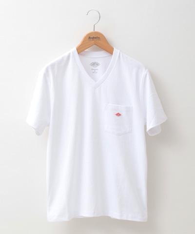DANTON ダントン Vネック ポケットTシャツ JD-9088 レディース