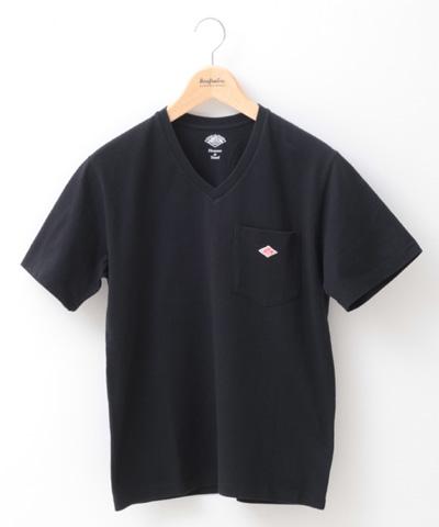 DANTON ダントン Vネック ポケットTシャツ JD-9088 メンズ