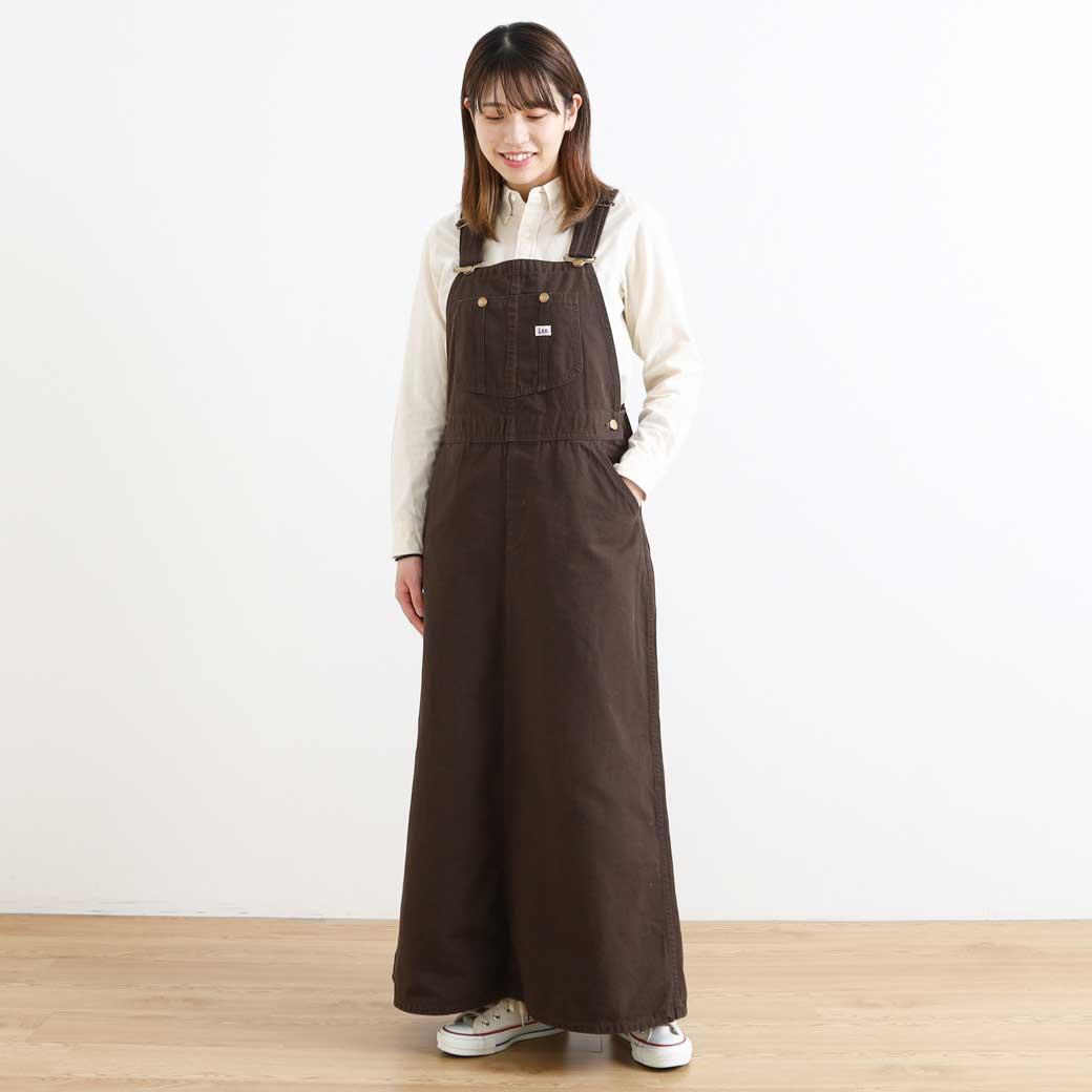【今だけ10%OFF】Lee リー オーバーオールスカート