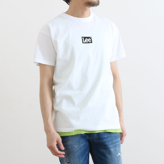 Lee(リー) BOX LOGO Tシャツ(ボックスロゴ半袖Tシャツ) LT2550 メンズ 半袖