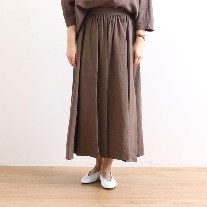 【今だけ10%OFF】LE GLAZIK(ル・グラジック)Linen Flared Skirt リネンフレアスカート JL-5076KLM レディース スカート